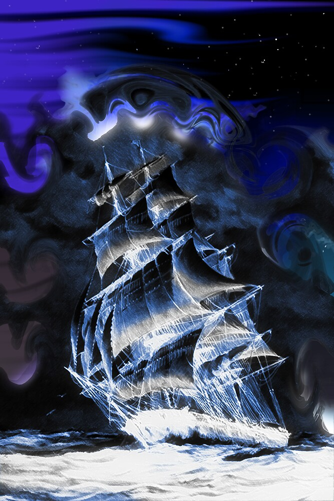 Ghostly ship by flamingalah