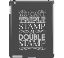 Triple Stamp Dark iPad Case/Skin