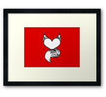 Furry at Heart (Red) Framed Print