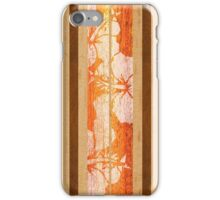 Haleiwa Hawaiian Faux Maple Wood Surfboard - Orange  iPhone Case/Skin