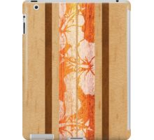 Haleiwa Hawaiian Faux Maple Wood Surfboard - Orange  iPad Case/Skin