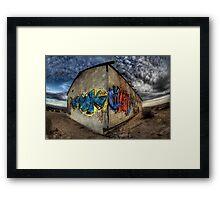 Desert Graffiti Framed Print