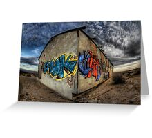 Desert Graffiti Greeting Card