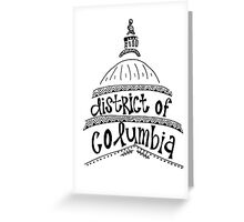Hipster District of Columbia Outline Greeting Card