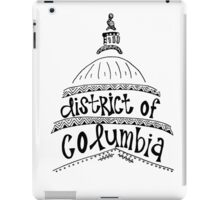 Hipster District of Columbia Outline iPad Case/Skin
