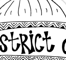 Hipster District of Columbia Outline Sticker