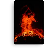 Bonfire Demon Canvas Print