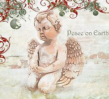 """The Littlest Angel """"Peace on Earth"""" ~ Greeting Card by Susan Werby"""