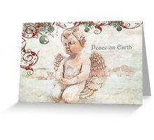 """The Littlest Angel """"Peace on Earth"""" ~ Greeting Card Greeting Card"""