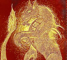 Dragon drawn etched by Aurora