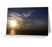 Sunset on sea Greeting Card