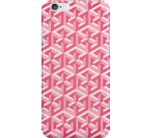 Penrose Cube - Pink iPhone Case/Skin