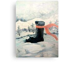 Happy Snow Boot  Metal Print