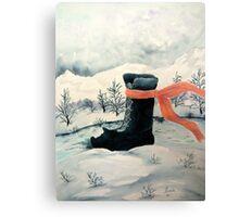 Happy Snow Boot  Canvas Print