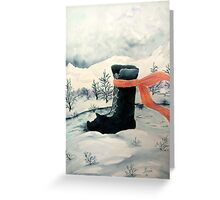 Happy Snow Boot  Greeting Card