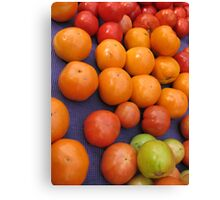 Farmers market tomatoes 1 Canvas Print