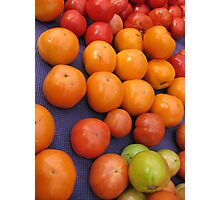 Farmers market tomatoes 1 Photographic Print