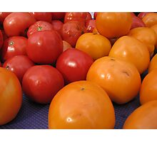 Farmers market tomatoes 2 Photographic Print