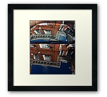 Reflection of Georgian House on Car Body Framed Print