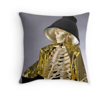 Skeleton Series: Queen Of The Photog Throw Pillow