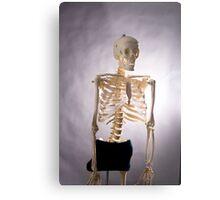 Skeleton Series: Semi Nude Metal Print