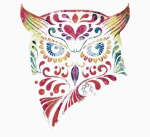 COLORFUL CANDY OWL by krishnef