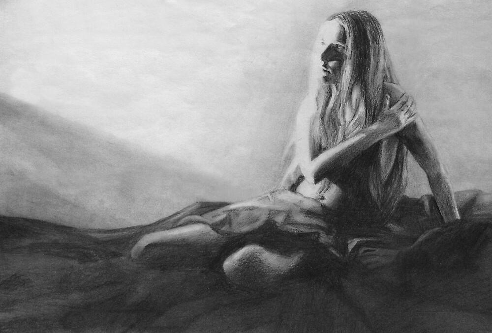 Anticipation (in pencil) by Chelsea Kerwath