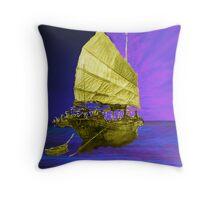 Under Golden Sails Throw Pillow