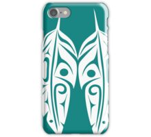 Four Feathers on Teal iPhone Case/Skin
