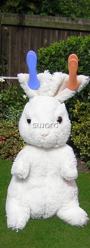 A nice clean rabbit (photograph) by sword