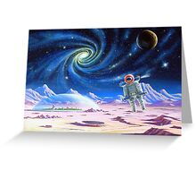 Two moons and a billion stars. Greeting Card