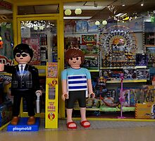 Playmobil Model Children outside a Toy Shop by EricHands