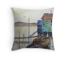 "A Scene from ""the Rock"" (Newfoundland) Throw Pillow"