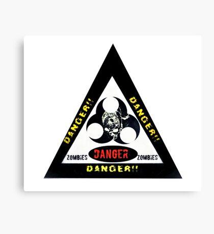 Danger zombies Canvas Print