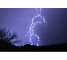 Desert Lightning Photographic Print
