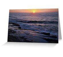 Wedding Anniversary Sunset ~ digital paint effect  Greeting Card