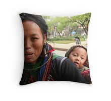 It's all in the eyes Throw Pillow