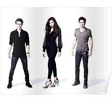 The Vampire diaries damon, stefan, elena Poster