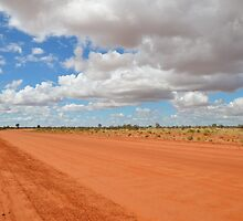 Red Dusty Outback Road by RebeccaHambyArt