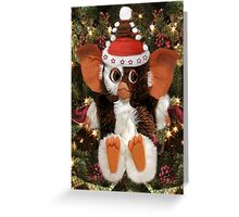 GIZMO READY FOR CHRISTMAS PICTURE AND OR CARD Greeting Card
