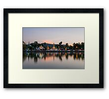 Reflection of Wat Chong Kham at dusk Framed Print