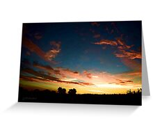 Silhouette Sunset from St Tim's ~ digital paint effect Greeting Card