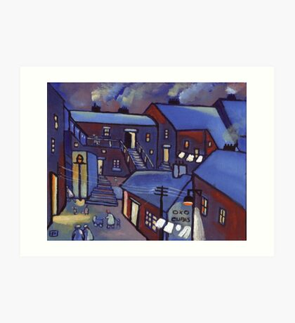 Houses (from my original acrylic painting) Art Print