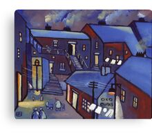 Houses (from my original acrylic painting) Canvas Print