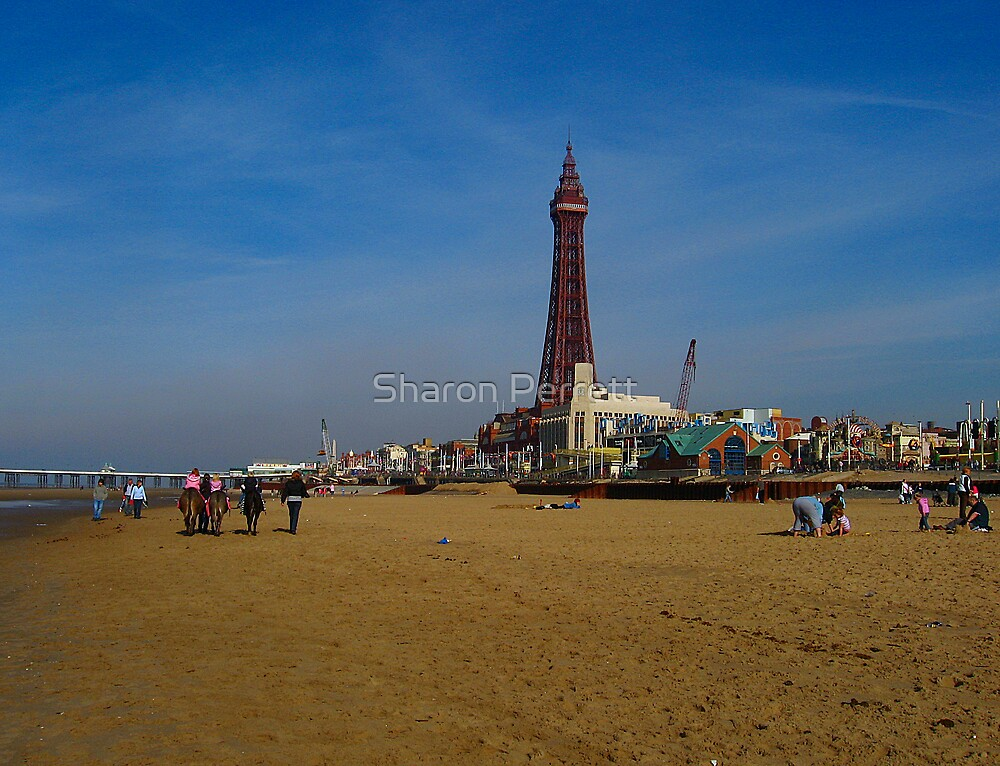 Blackpool Beach by Sharon Perrett