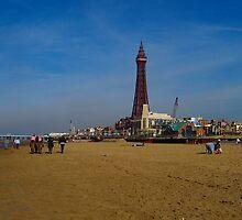 Blackpool Beach by Sharon Perrett