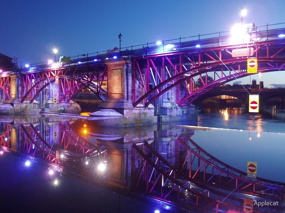 Clyde Bridge at Night by Applecat