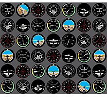 Flight Instruments Photographic Print