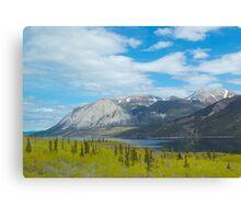 Mountains along the Yukon Trail, BC, Canada. 2012. Canvas Print