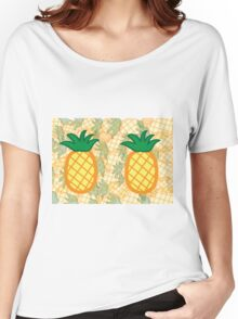 Pineapple Collage Landscape Women's Relaxed Fit T-Shirt